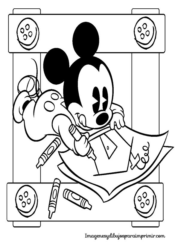 Famoso Para Colorear Cumpleaños De Mickey Y Minnie Mouse Colección ...