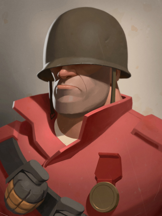 Character Design Concept Art By Moby Francke Inspiration Grid Team Fortress 2 Soldier Character Design Concept Art Characters