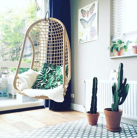scandimagdeco le blog d co un petit coin cocooning avec le fauteuil suspendu fauteuils. Black Bedroom Furniture Sets. Home Design Ideas