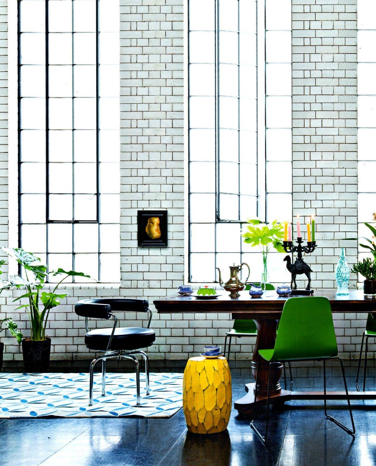 industrial interior design with huge iron frame windows house rh pinterest com