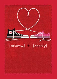 Converse Lace Love Valentine's Day Card