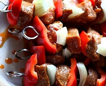 With the 4th of July practically upon us, I thought you might like this marinade recipe for beef and chicken.  Last night I grilled kabobs of beef, red peppers and sweet onions that were eaten... #chickenkabobmarinade