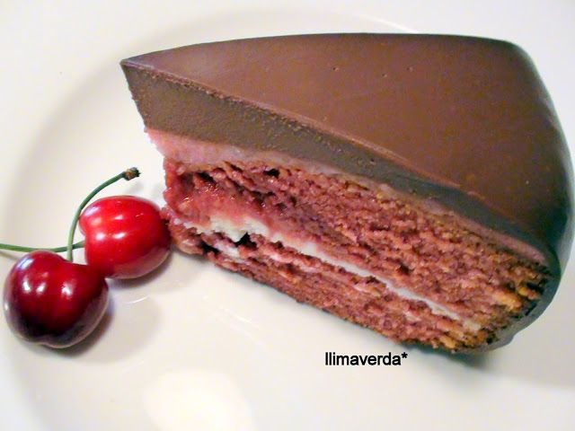 llimaverda: Tarta de cerezas y chocolate
