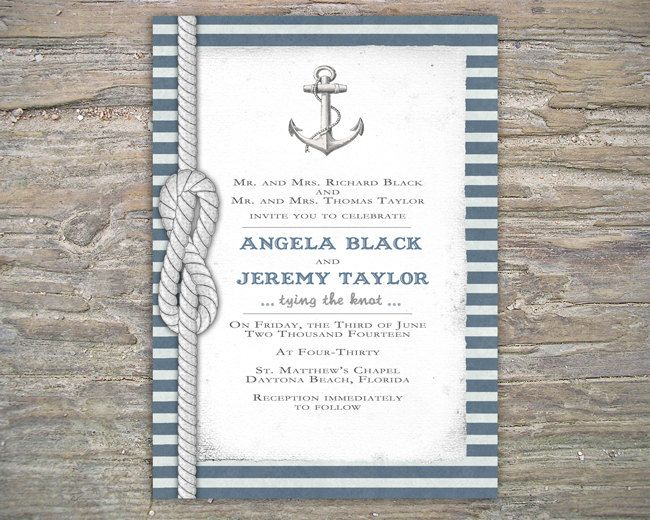 Nautical invitation diy printable invite for wedding or event nautical invitation diy printable invite for wedding or event 3000 via etsy solutioingenieria Images