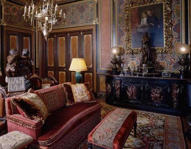 sitting room in paris house designed by jacques garcia rooms that rh pinterest com