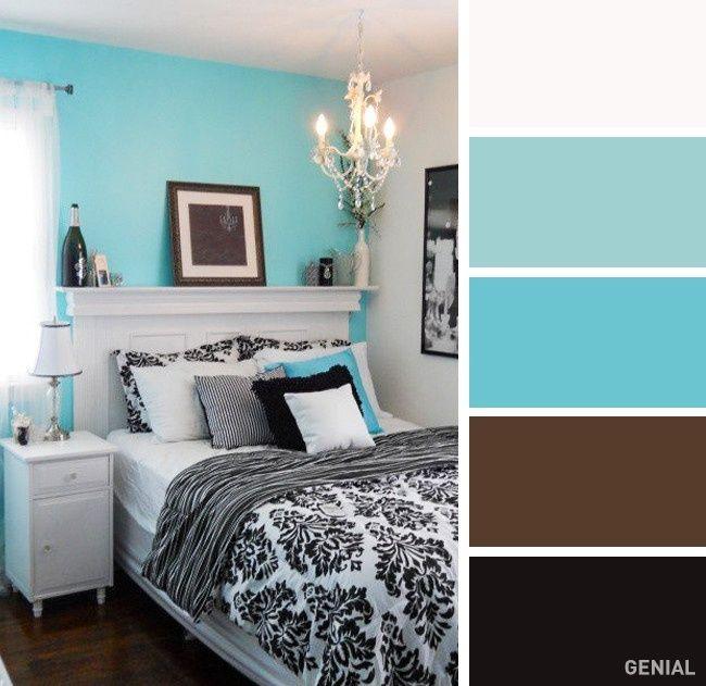 20 Perfectas Combinaciones De Colores Para Tu Recamara Ideias De Decoracao Quarto Interiores De Quarto Decoracao Quarto Turquesa