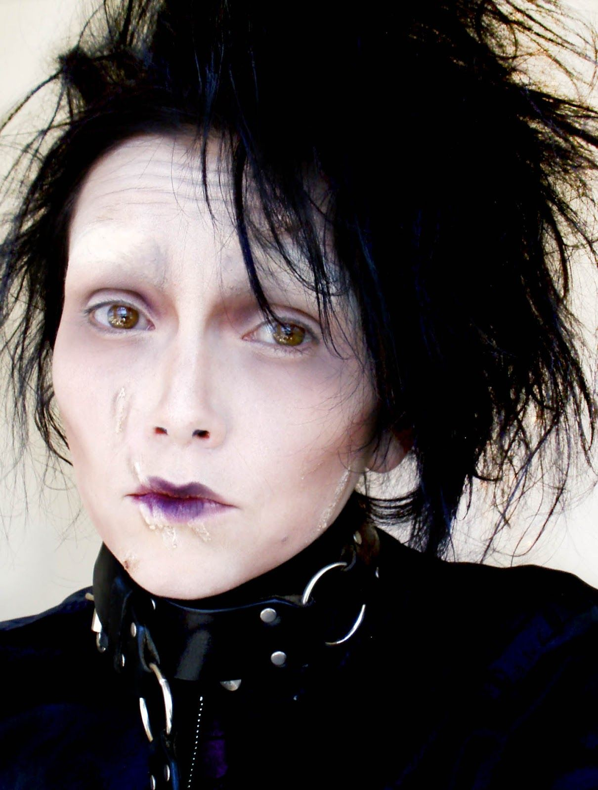 Edward scissorhands make up tutorial kandeej i love kandee costume makeup baditri Gallery