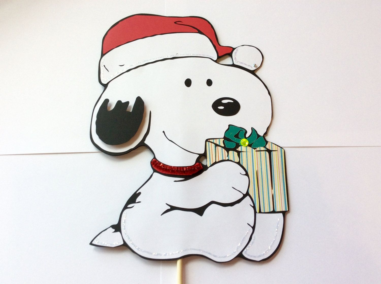 1FT Christmas Baby Snoopy Stand up Centerpiece removable base,birthday decorations, party supplies, baby shower, engagement party by LoveToFiesta on Etsy