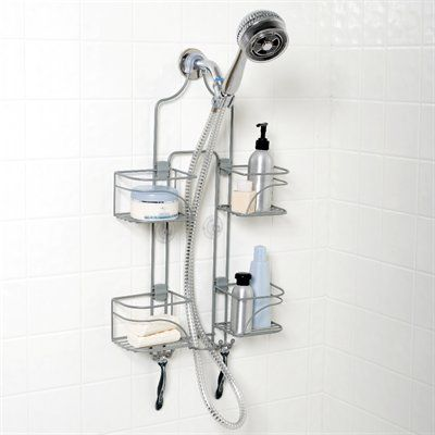 Zenith 24-3/4-in H Over The Showerhead Steel Hanging Shower Caddy ...