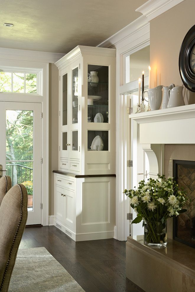 white built in china cabinet with glass door standard fireplace with rh pinterest com