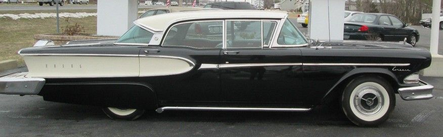 This '58 Edsel Citation is a black and white beauty…..EXCEPT….I despise continental kits. They add nothing but length and...