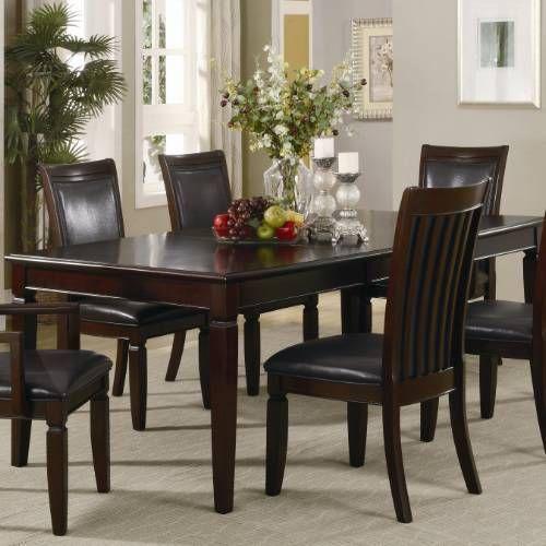 coaster furniture 101631 ramona rectangular dining table in walnut rh pinterest com