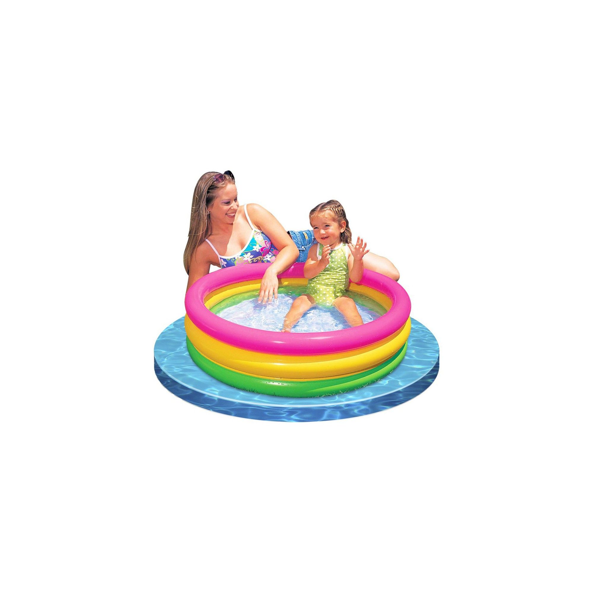 2) Intex Sunset Glow Inflatable Colorful Baby Swimming