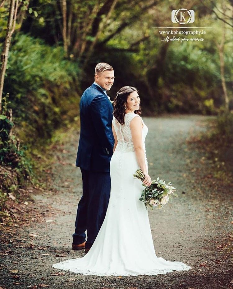 Evelyn Bridal Real Bride Wearing The Amara Gown Vintage Style Sheath Gown Featuring An Illusion Venise Lace Bodice Wedding Evelyn Bridal Wedding Photography