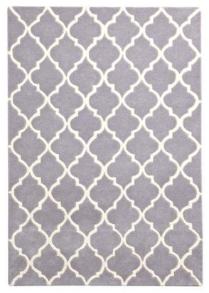 Colours Elisie Lattice Rug Dove (L)1.7 X (W)1.2m,