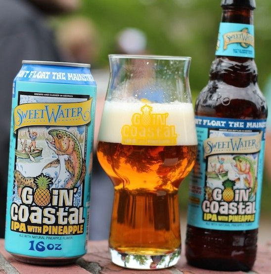 Sweetwater Brewing Goin Coastal Ipa With Pineapple Sweetwater Brewing Craft Beer Breweries Craft Beer Snob