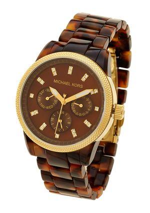 0df8ba5f96d8 On ideel  MICHAEL KORS Ladies Ritz Tortoise 38mm Watch