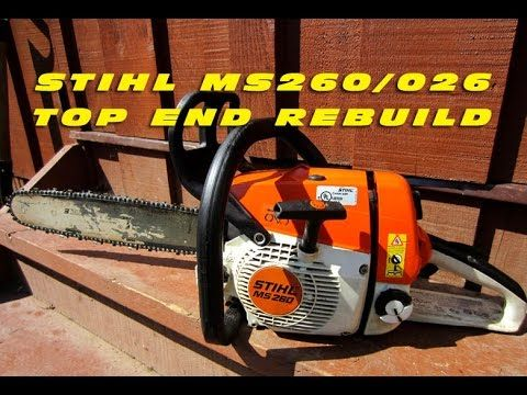 Top End Rebuild On Stihl Ms260 Chainsaw With Force Tec Cylinder Kit You