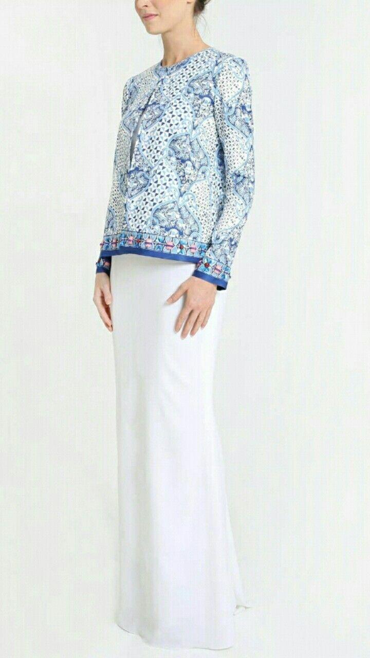 Pin Von Dalili Isham Auf Modern Baju Kurung Kebaya Pinterest Erkunde Kleid Rung Und Noch Mehr