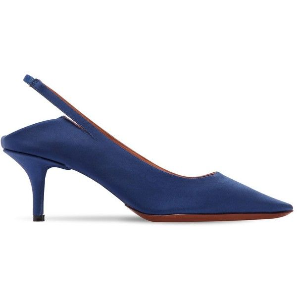 Vetements 60MM BABOUCHE SATIN SLINGBACK PUMPS bRW9oai