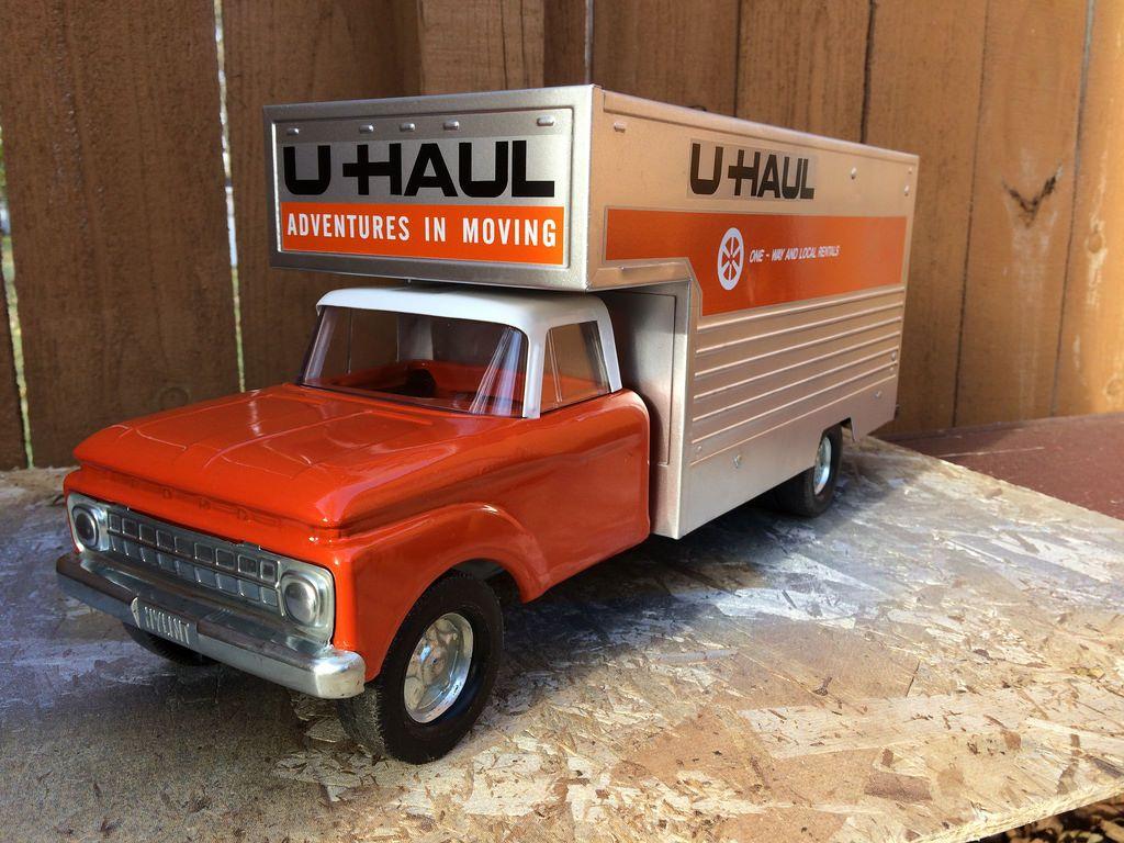 60s Nylint U Haul Moving Van Truck Vintage Toys Tonka Toys Metal Toys