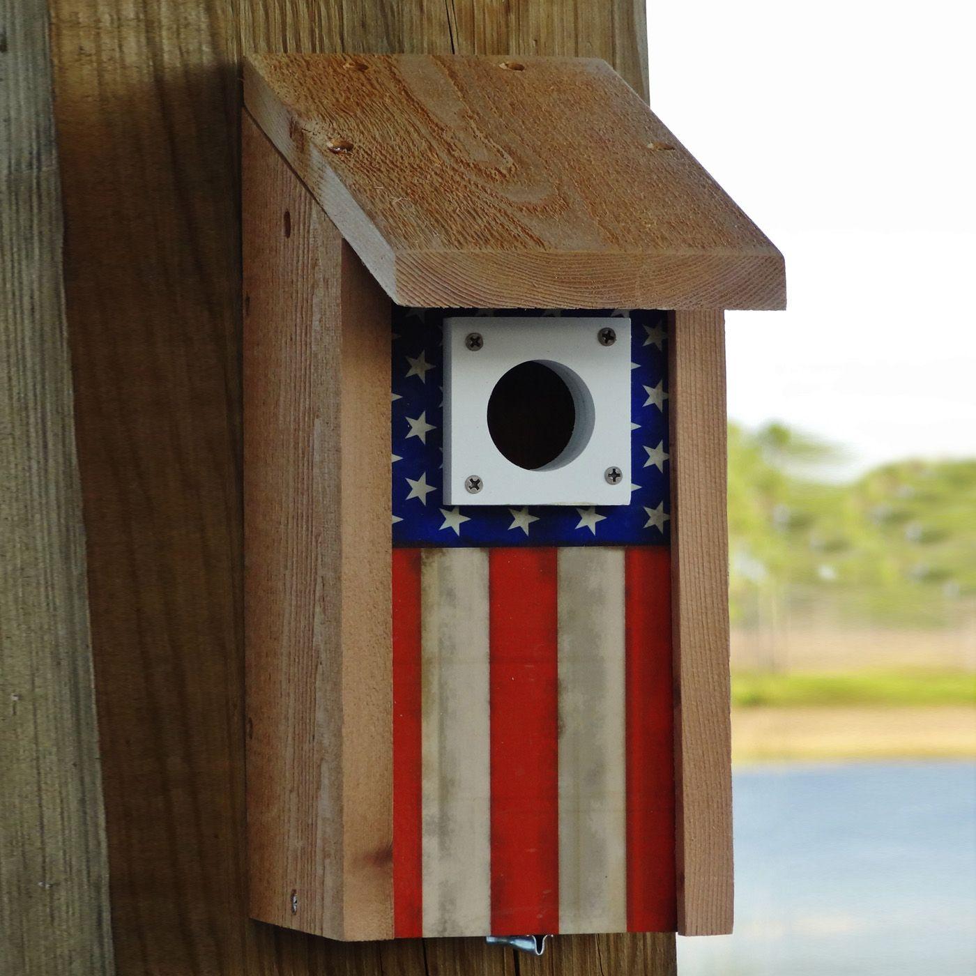 The Backyard Bird Company WA-CB-ANTIQUEFLAG Cedar Cabin Antique Flag ...