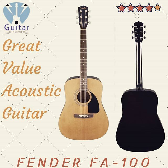 Fender Delivers More Within This Type Of Instrument Like The Fa 100 A Touch Above The Traditional Beginners Guitar A Budget Best Acoustic Guitar Acoustic Guitar Guitar