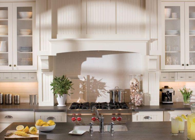 cuisine meuble style cottage anglais decoration ilot central ...