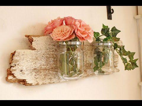 Spectacular DIY Wanddeko mit Holzbrett und Glas