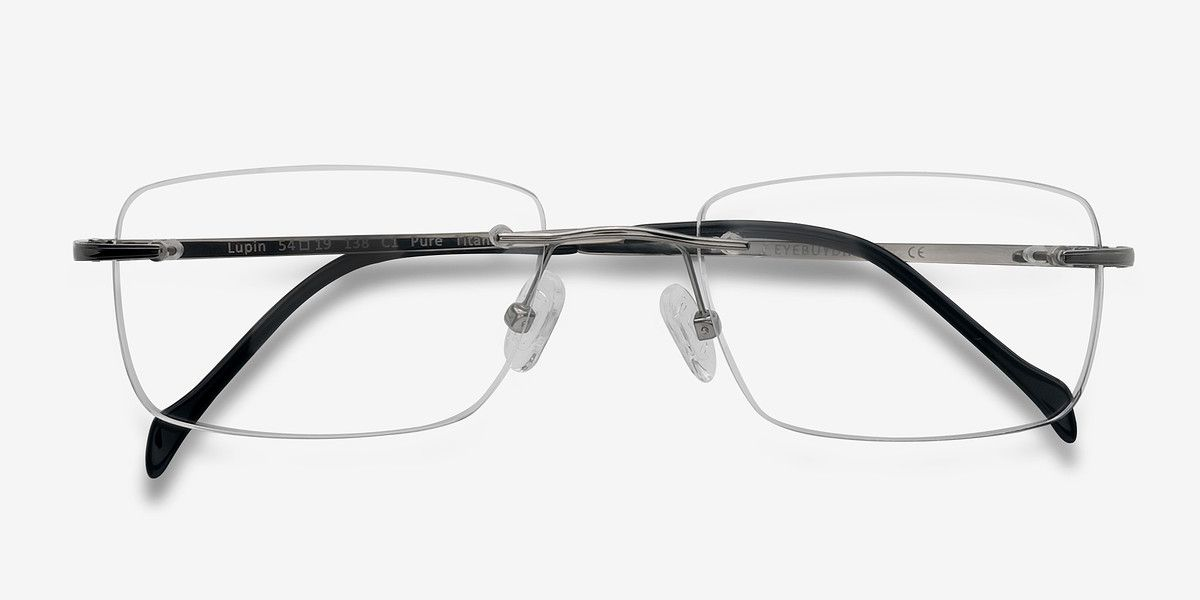 Lupin Silver Titanium Eyeglasses From Eyebuydirect Exceptional Style Quality And Price With These Gla Eyeglasses Titanium Eyeglasses Eyebuydirect Eyeglasses