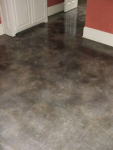Grey Cement Floor : Gray stained concrete floors thefloors