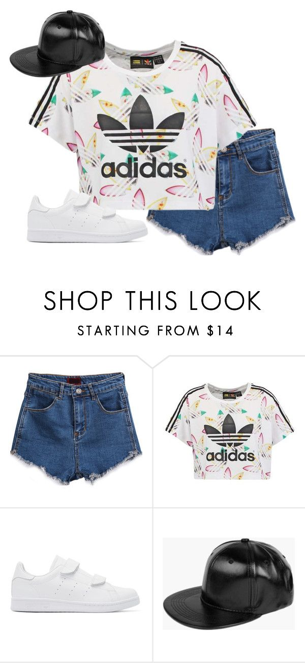 """another random set 2"" by paperboatorigami ❤ liked on Polyvore featuring adidas Originals and Boohoo"