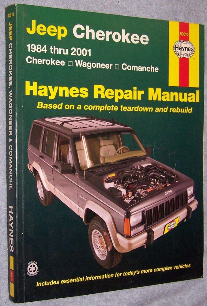 haynes repair manual jeep cherokee 1984 thru 2001 cherokee rh pinterest com 1986 Jeep Cherokee 1986 Jeep Cherokee