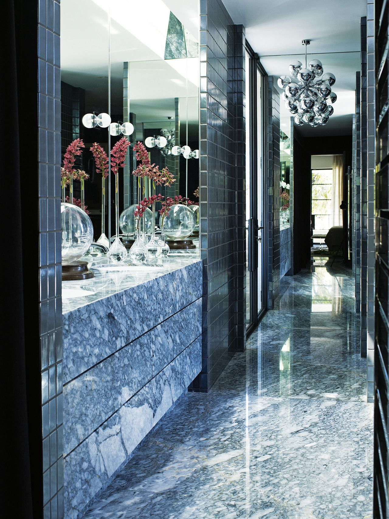 Interiors An Opulent 80'sinspired Home  Perth Lyon And Interiors Mesmerizing Designer Bathrooms Perth Decorating Design