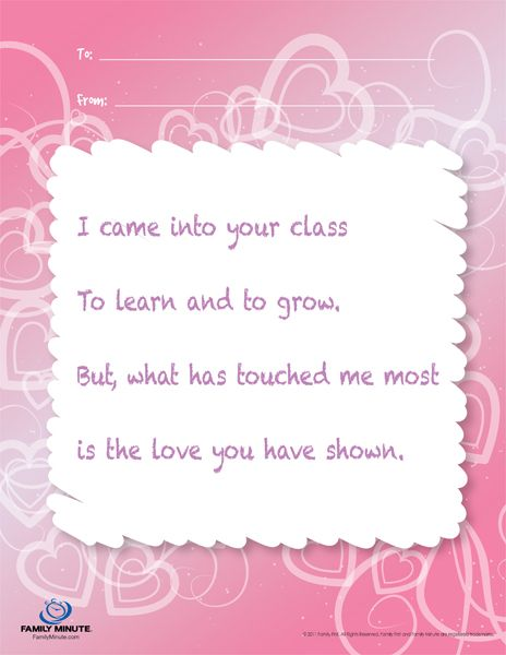 Teacher Appreciation Poems Teacher Appreciation Note for Girls - copy certificate of appreciation for teachers