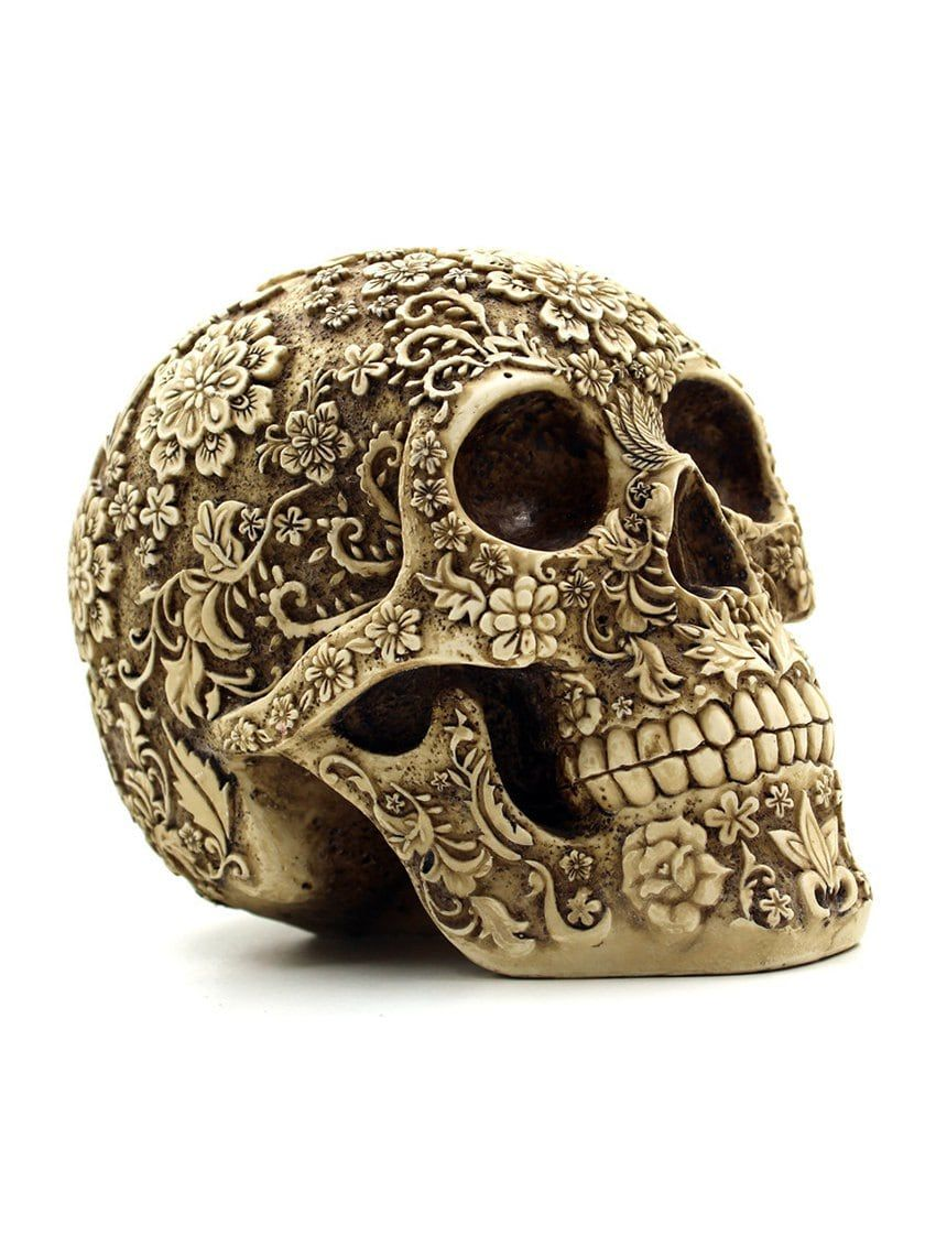Human Skull Replicas Halloween Home Decorations Resin Craft Collections Delicate