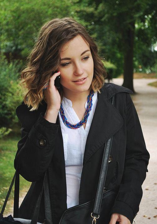 Mujer, Teléfono, Publicidad