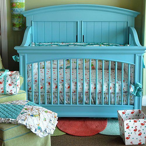 Beach Baby Nursery Cabana Bedding And Necessities In Interior Design Love The Crib