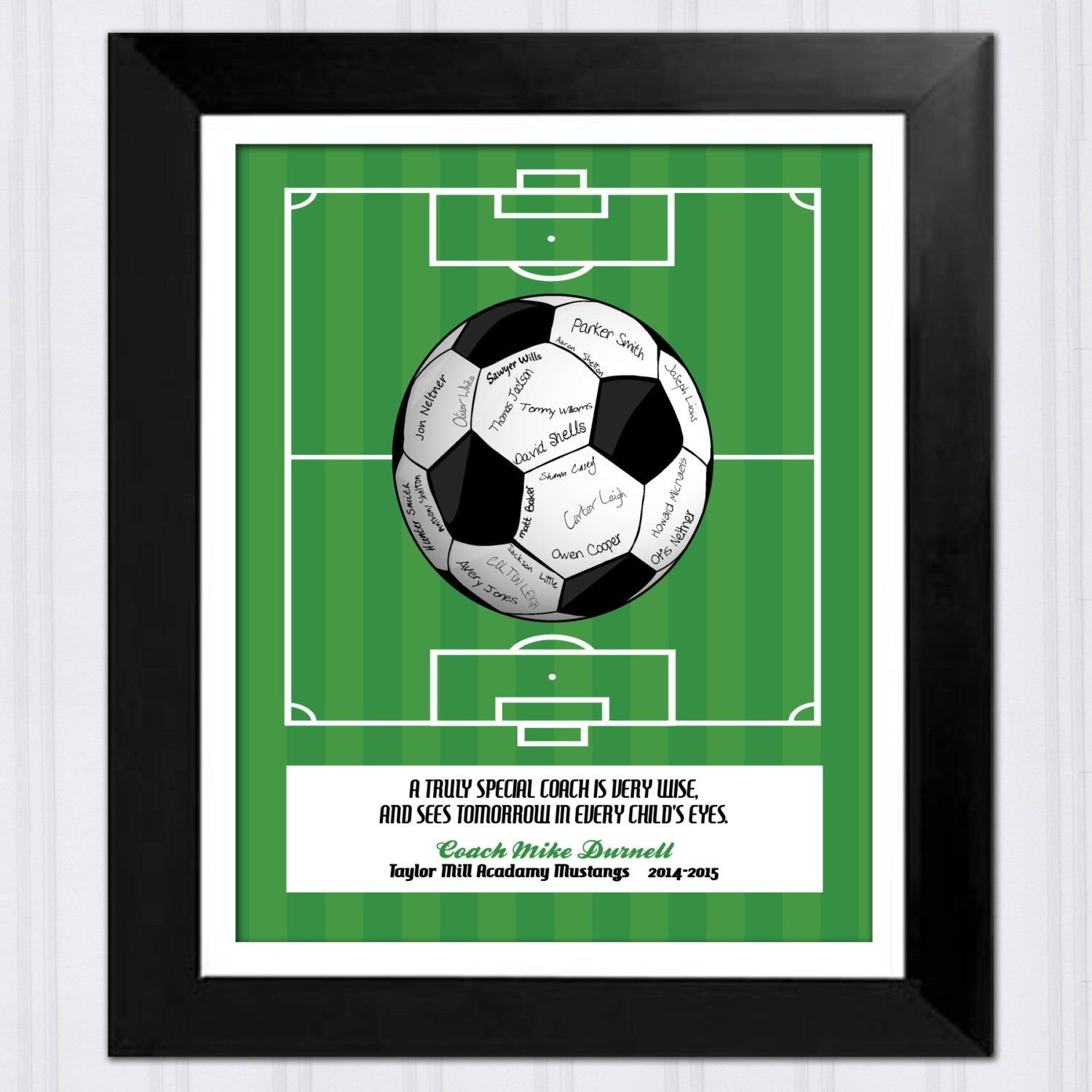eb930f608 Personalized Gift for Soccer Coach - Printable File - Signed Soccer Team  Gift - Christmas Gift - Thank you Gift for Coach from Team