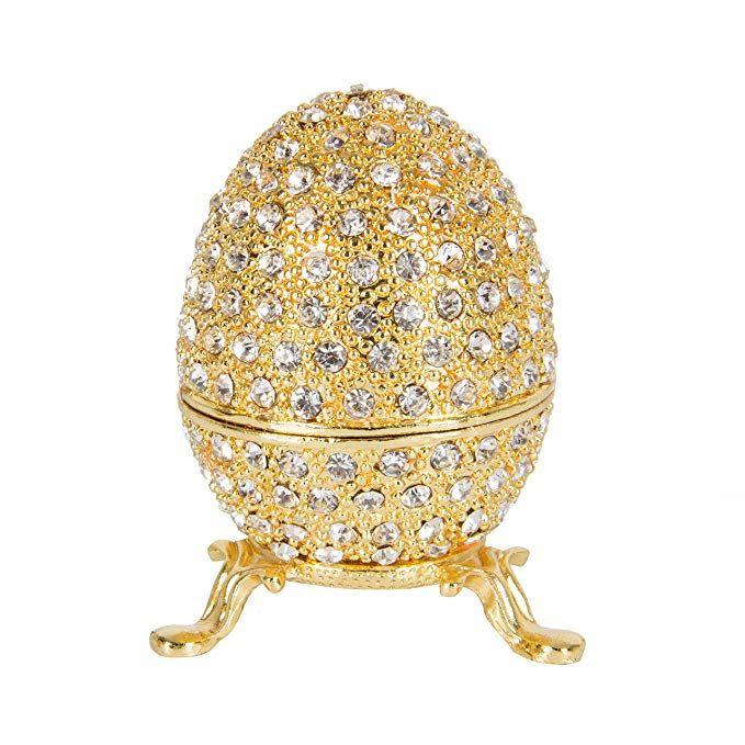 Metallic Golden Hinged Easter Eggs