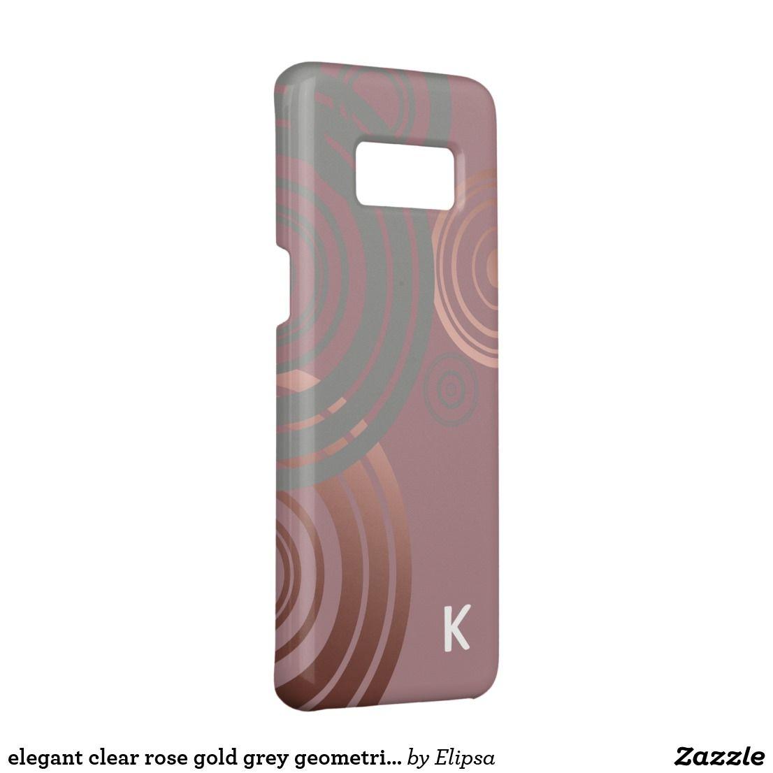elegant clear rose gold grey geometric circles Case-Mate samsung galaxy s8 case