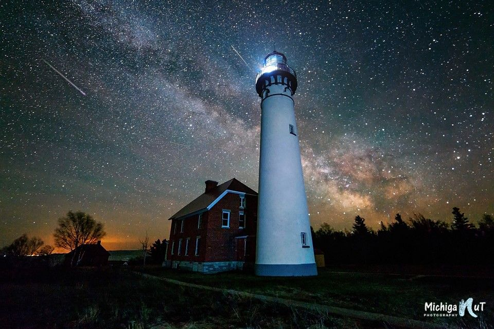 Milky Way at Au Sable Point Lighthouse