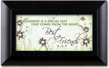 Best Friends Friendship Matte Black Petite Music Musical Jewelry Box