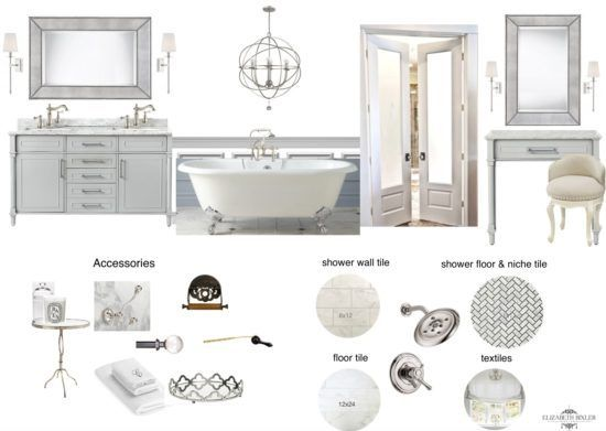 Bathroom Design Board white master bathroom makeover - | white bathrooms, mood boards