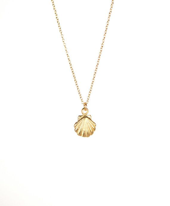 2ddf0db8730 Tiny shell necklace gold shell necklace sea shell by BubuRuby, $22.00