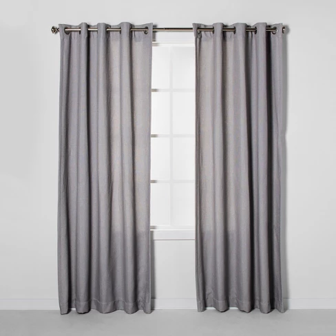 Luster Basket Weave Light Filtering Curtain Panels Project 62