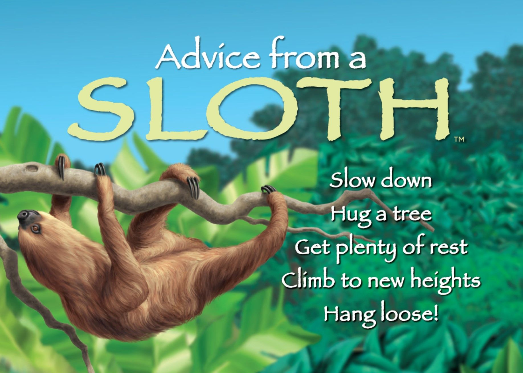 Advice From A Sloth Get Plenty Of Rest Sloth Magnet New Adventure Quotes Advice Adventure Quotes