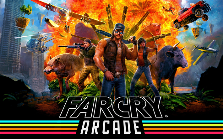 Download Wallpapers Far Cry 5 Arcade 4k 2018 Games Poster Far Cry Besthqwallpapers Com Far Cry 5 Arcade Watch Dogs Game