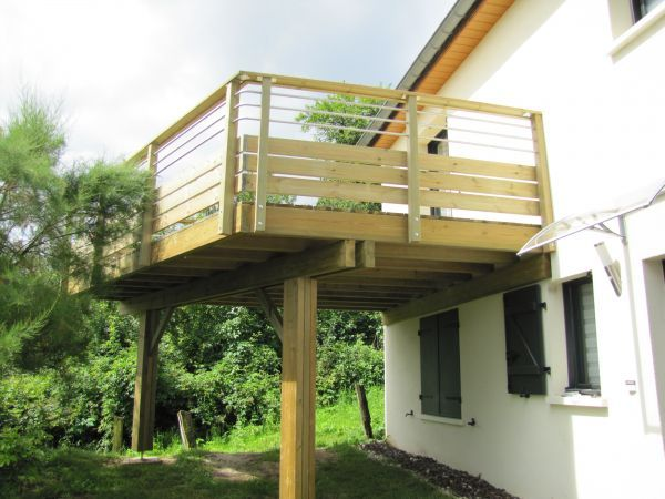 Charmant Terrasse Suspendue En Bois Conception