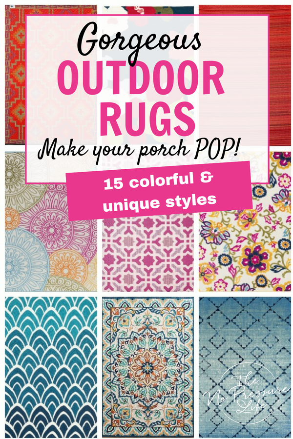 15 Colorful Outdoor Rugs That Will Make